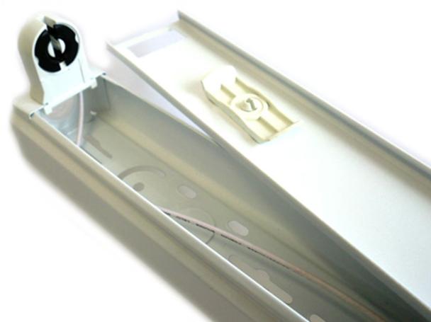 Plafoniere Per Tubi Led : Tl portalampada plafoniera singolo tubo neon t a led da cm