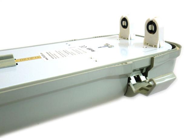Plafoniera Con Tubo Led : Tl2120 plafoniera stagna doppio tubo led t8 120cm x 2 neon a