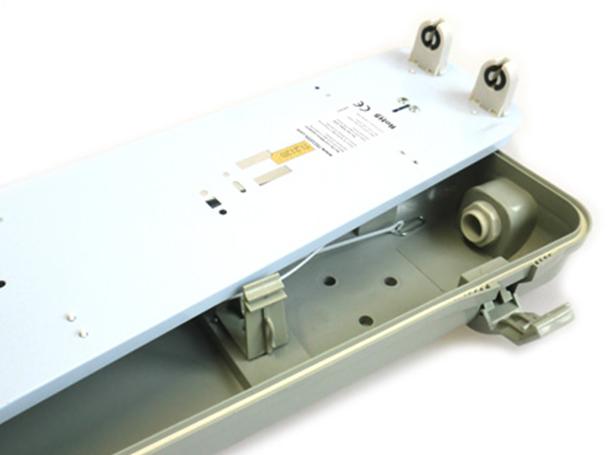 Plafoniera Con Tubo Led : Tl2150 plafoniera stagna doppio tubo led t8 150cm x 2 impermeabile