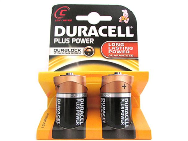A2zworldpila batteria duracell alkaline lr14 mn1400 plus - Pile 1 5v ...