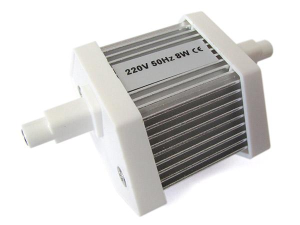 Lampada led r7s lineare 78mm 8w 80w 32 smd 2835 bianco caldo for Lampada alogena lineare led