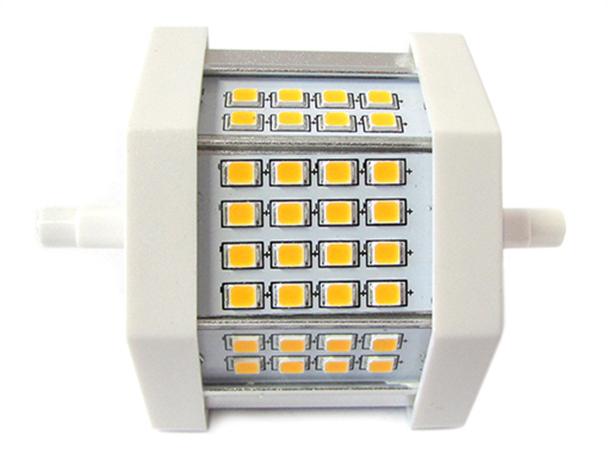 Lampada led r7s lineare 78mm 8w 80w 32 smd 2835 bianco for Lampada alogena lineare led